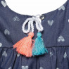Φόρεμα με βολάν και all over μοτίβο καρδιές (6 μηνών-5 ετών)