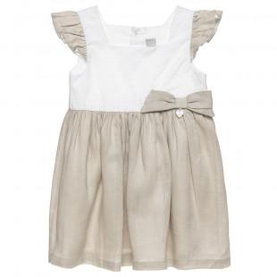 Φόρεμα με βολάν στο μανίκι και φιόγκο (18 μηνών-5 ετών)