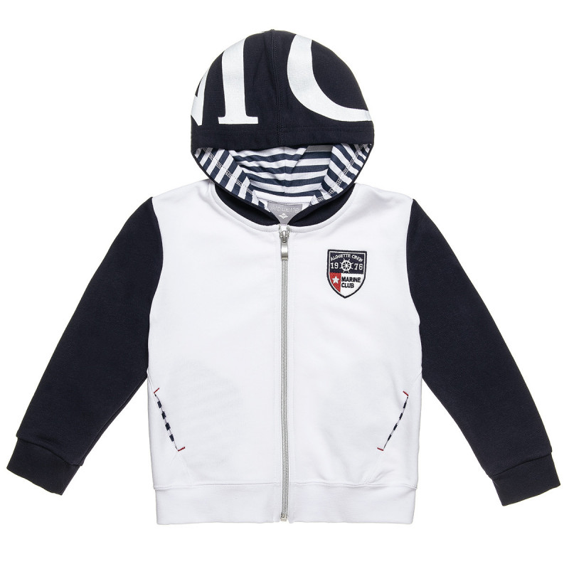 Cardigan with hood and embroidery (12 months-5 years)