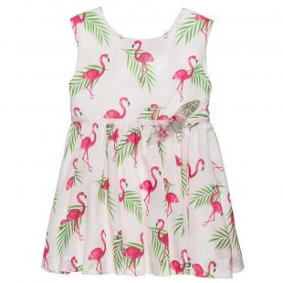 Φόρεμα με all over μοτίβο flamingo (18 μηνών-5 ετών)