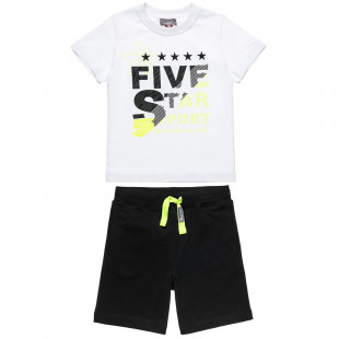 Set Five Star blouse with lettering and pants (6-16 years)