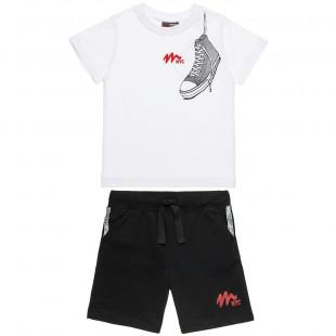 Σετ Moovers μπλούζα με τύπωμα και βερμούδα (18 μηνών-5 ετών)