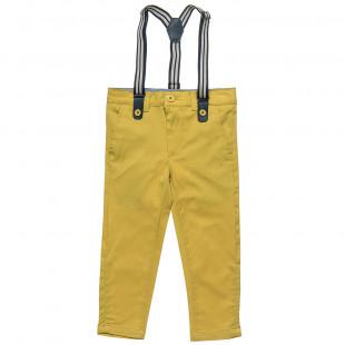 Παντελόνι με αποσπώμενες τιράντες και τσέπες (12 μηνών-5 ετών)