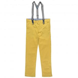 Παντελόνι με αποσπώμενες τιράντες και τσέπες (6-16 ετών)
