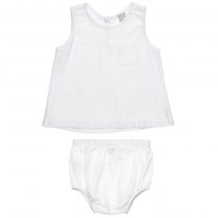 Σετ μπλούζα αμάνικη και εσώρουχο (3-12 μηνών)