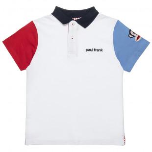 Μπλούζα Paul Frank polo με δίχρωμα μανίκια (6-12 ετών)