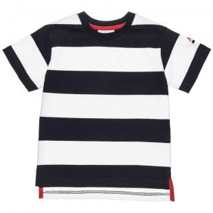Μπλούζα ριγέ με ανοίγματα κάτω (18 μηνών-5 ετών)