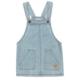 Φόρεμα σαλοπέτα τζιν με τιράντες (9 μηνών-3 ετών)