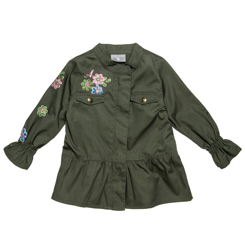 Jacket with printed flowers (2-5 years)