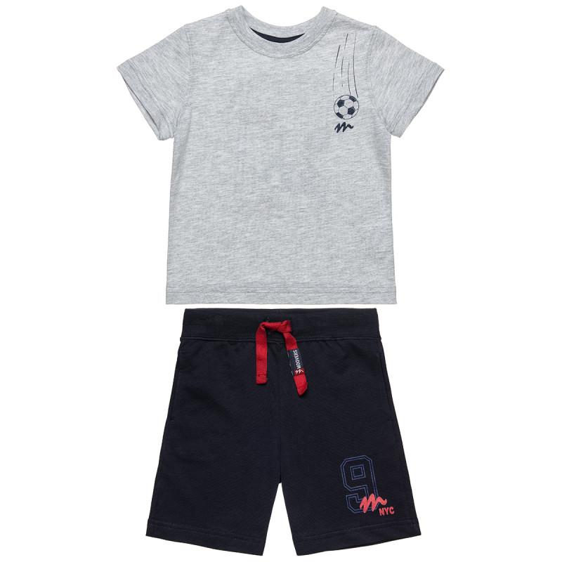 Σετ Moovers μπλούζα με τύπωμα και βερμούδα (12 μηνών-5 ετών)