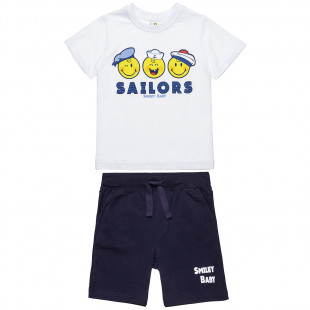 Set Smiley blouse with print and pants (12 months-5 years)