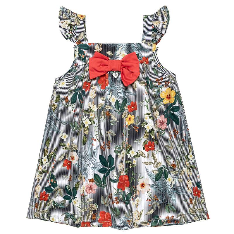Φόρεμα με φλοράλ μοτίβο και βολάν στα μανίκια (18 μηνών-5 ετών)