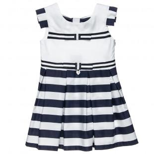 Φόρεμα ριγέ με φιόγκους (6 μηνών-5 ετών)