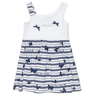 Φόρεμα με strass και φιογκάκια (9 μηνών-5 ετών)