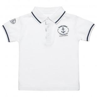 Μπλούζα polo με γιακά και κέντημα (2-5 ετών)