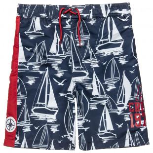 Swimwear bermuda with leash (2-16 years)