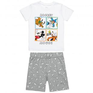 Πυτζάμα Disney Mickey Mouse μπλούζα με βερμούδα (4-8 ετών)
