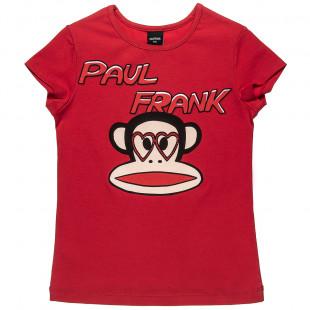 Μπλούζα Paul Frank με τύπωμα Julius και strass (6-16 ετών)