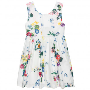Φόρεμα με φλοράλ μοτίβο και τιράντες (6-12 ετών)