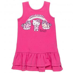 Φόρεμα Hello Kitty με glitter και άνοιγμα στην πλάτη (2-5 ετών)