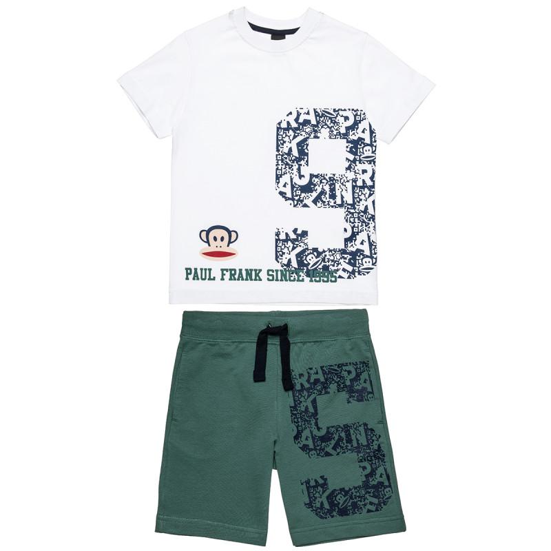 Σετ Paul Frank μπλούζα με τύπωμα και βερμούδα με κορδόνια (12 μηνών-5 ετών)