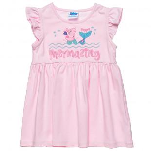Φόρεμα Peppa Pig με βολάν και τύπωμα Peppa (2-5 years)