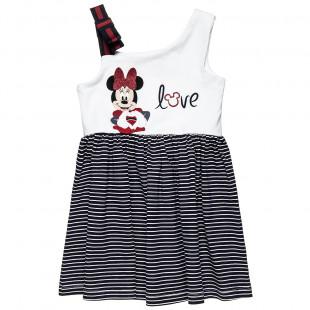 Φόρεμα Disney Minnie Mouse με glitter και φιόγκο (2-5 ετών)