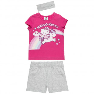 Σετ Hello Kitty μπλούζα με σορτς και κορδέλα (2-5 ετών)