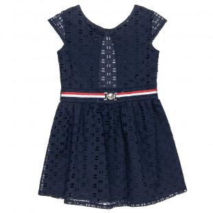 Φόρεμα με διάτρητες λεπτομέρειες all over (6-16 ετών)