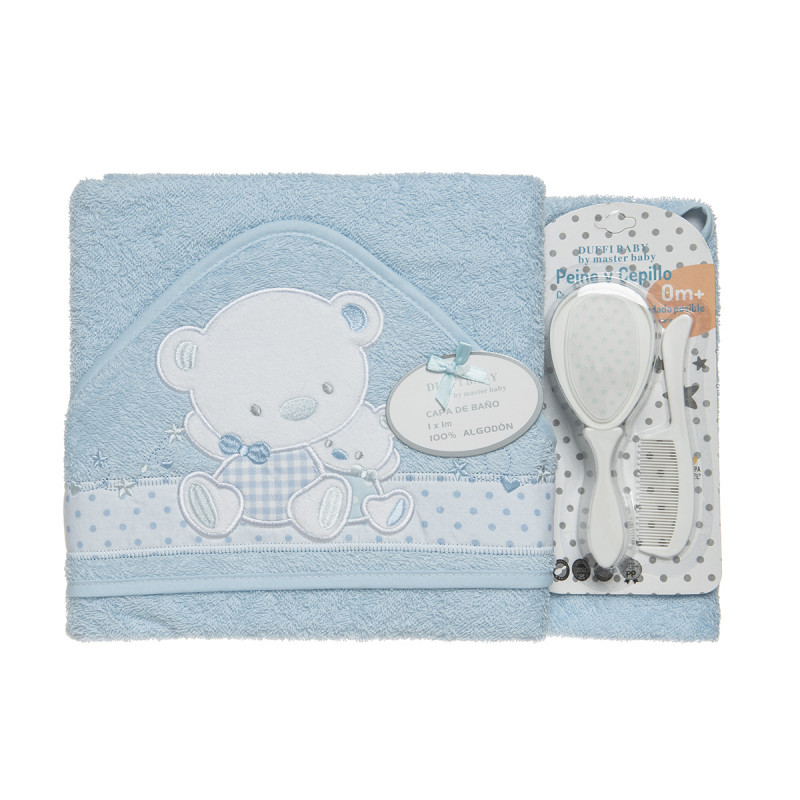 Set included towel bath, comb and brush
