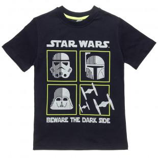 Μπλούζα Star Wars με ασημί τύπωμα (6-16 ετών)