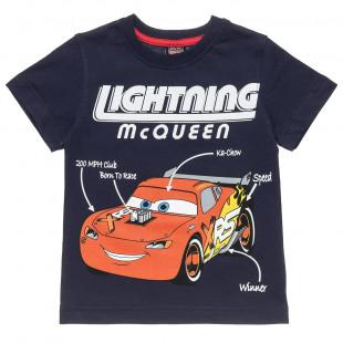 Μπλούζα Disney Cars με τύπωμα Lighting McQeen (2-6 ετών)