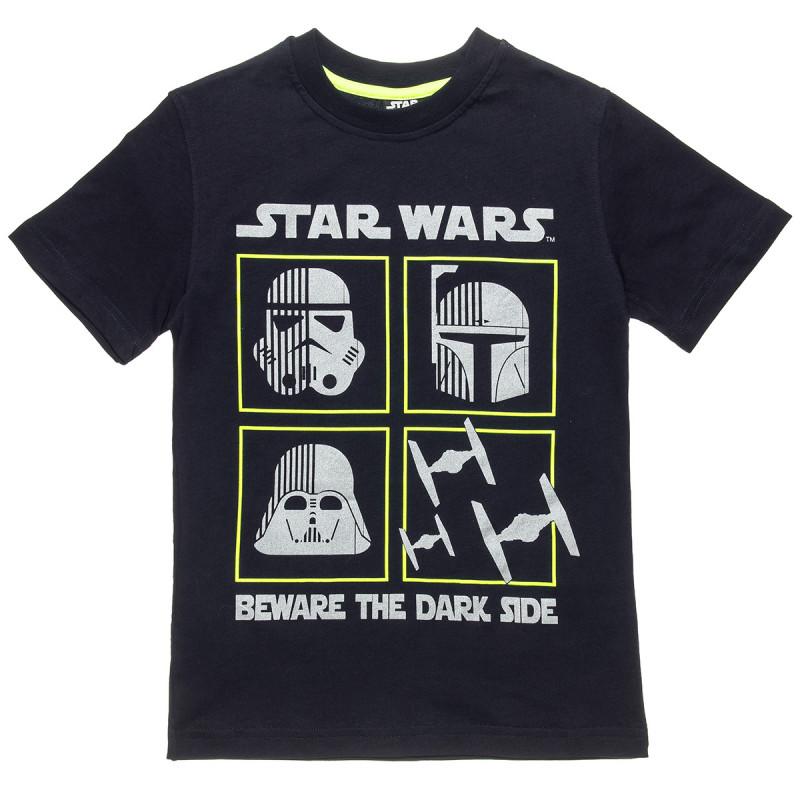 Μπλούζα Star Wars ασημί τύπωμα (2-5 ετών)