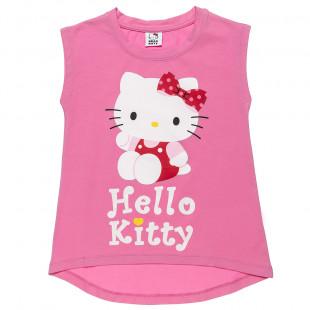 Μπλούζα Hello Kitty με τύπωμα (6-12 ετών)