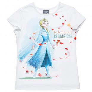 Μπλούζα Disney Frozen με τύπωμα Elsa (6-12 ετών)