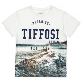 """Μπλούζα με τύπωμα """"Paradise Tiffosi"""" (4-16 ετών)"""