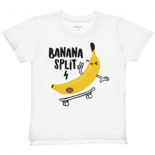 """Μπλούζα με τύπωμα """"Banana Split"""" (12 μηνών-3 ετών)"""