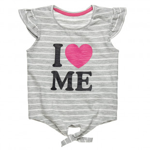 Μπλούζα ριγέ με δέσιμο μπροστά (12 μηνών-3 ετών)