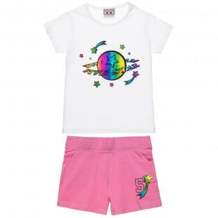 Σετ Five Stars μπλούζα με foil τύπωμα και σορτς (6-16 ετών)