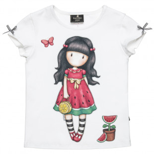 Blouse Santoro with print and bows (6-14 years)