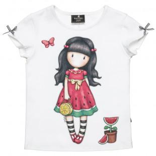 Μπλούζα Santoro με τύπωμα και φιογκάκια (6-14 ετών)