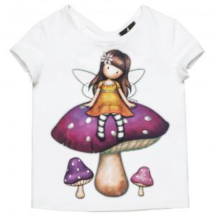 Μπλούζα Santoro με glitter τύπωμα και άνοιγμα στην πλάτη (6-14 ετών)