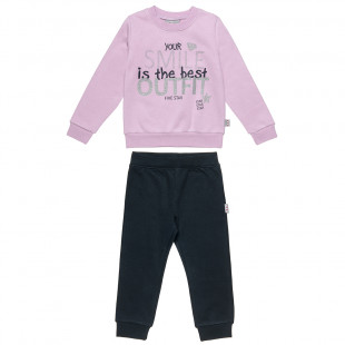 Set Five Star blouse with glitter and pants (12 monhts-5 years)