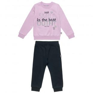 Σετ Five Star μπλούζα με glitter και φόρμα (12 μηνών-5 ετών)