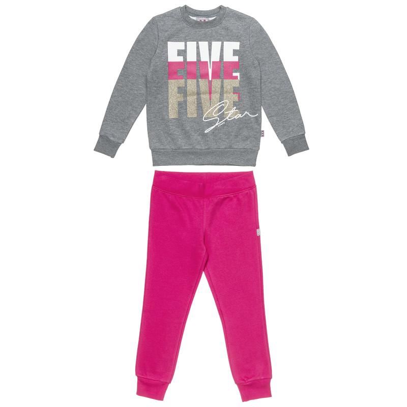Σετ Φόρμας Five Star μπλούζα με glitter και  (6-16 ετών)