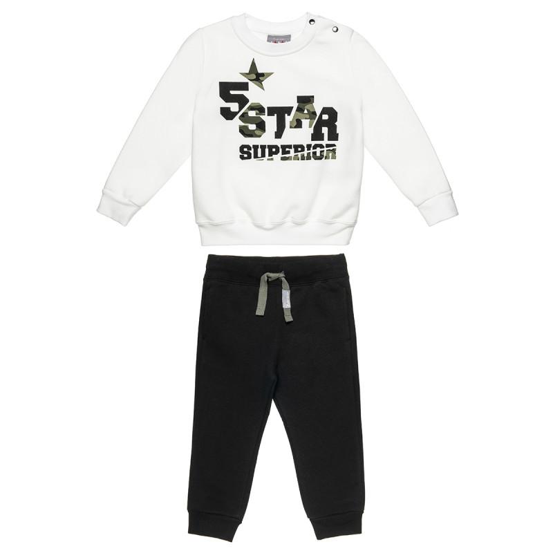 Σετ Φόρμας Five Star μπλούζα με τύπωμα και παντελόνι (12 μηνών-5 ετών)