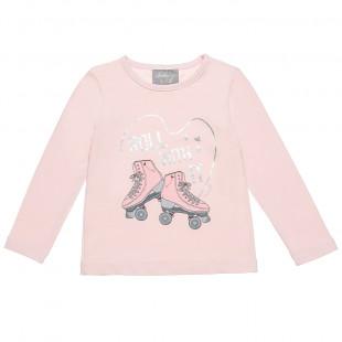 Μπλούζα με τύπωμα πατίνια και foil λεπτομέρειες (12 μηνών-5 ετών)