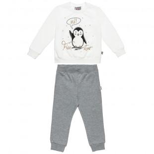 Σετ Φόρμας Five Star με τύπωμα πιγκουίνο και παντελόνι με λάστιχο (12 μηνών-5 ετών)