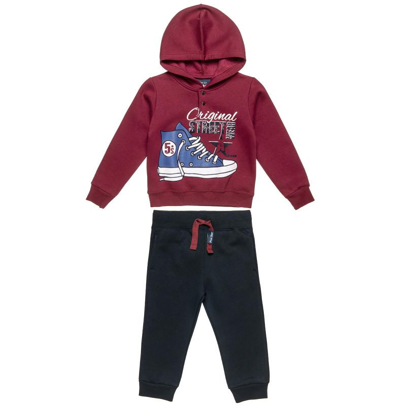 Σετ Φόρμας Five Star μπλούζα με κουκούλα και παντελόνι με λάστιχο (12 μηνών-5 ετών)