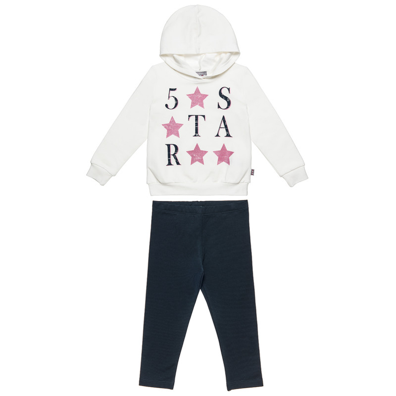 Set Five Star blouse with hood and leggings (18 months-5 years)